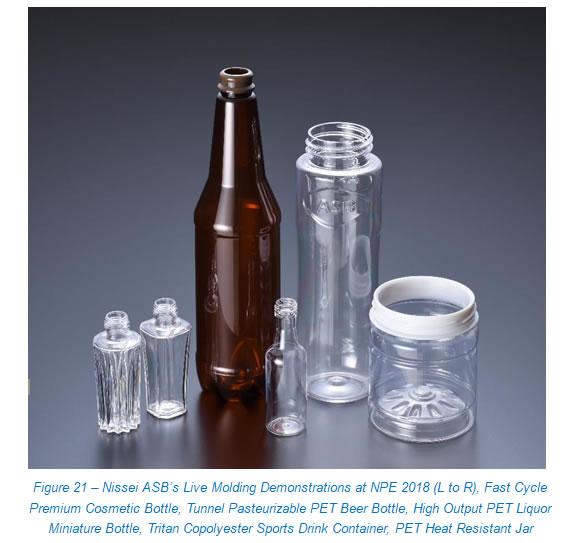 Range of PET bottles