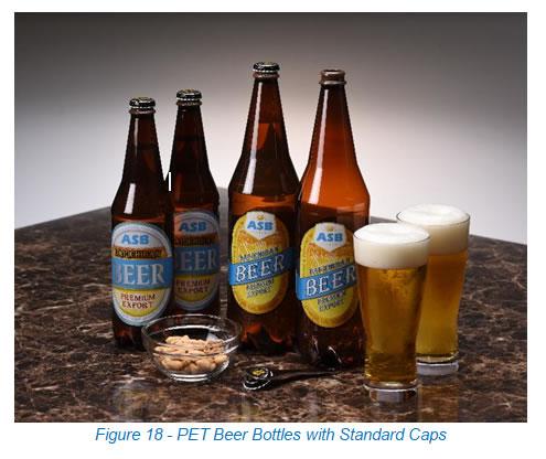 PET Beer Bottles with Standard Caps